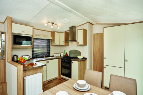 Kitchen, Carnaby Oakdale, Mobile Home, Caravan in the sun for sale in France