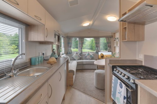 Kitchen, Rio gold 10ft wide Mobile home/caravan for sale in France